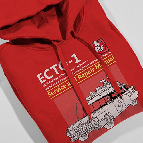 Ghostbusters Ecto1 Service And Repair Manual Women's Hooded Sweatshirt Red