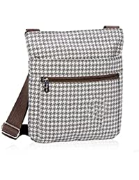 Thirty One Organizing Shoulder Bag In Grey Houndstooth