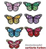 FASCHING 52051 Pin Schmetterling sortiert Anstecker Brosche NEU/OVP