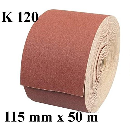 1 x Rolle Schleifpapier Kunstharz Schleifmittel Korn 120 Länge 50 m / Breite 115 mm