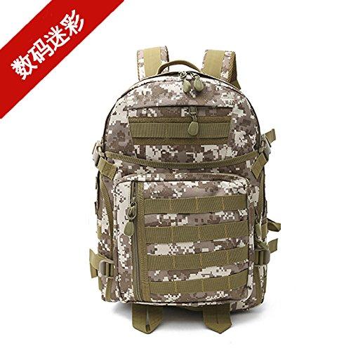 Gli sport outdoor camouflage zaino multifunzionale per appassionati di trekking Alpinismo borsa zaino spalla 47*31*25cm, nero Nero