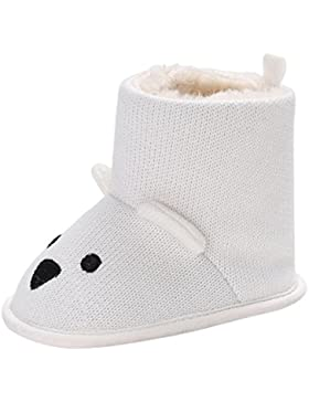 Huhu833 Kinder Mode Junge Mädchen Schuhe Soft Winter Baby Stiefel Karikatur Anti-Rutsch Kleinkind Baumwolle Stiefel