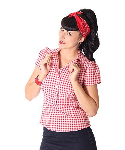 Suga rshock Missy Gingham Rockabilly Años 50Pin up Retro Blusa...