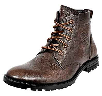 Allen Cooper ACCS-823 High Ankle Leather Boots (6, Brown)