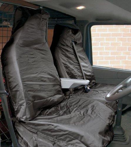 TOOLTIME Noir Hi-Back Ajustement Universel résistant à l'eau de Protection pour siège véhicule Ensemble