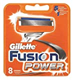 8 o 16 cuchillas de afeitar Gillette Fusion Power