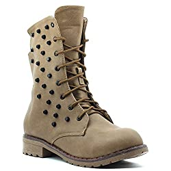 Shuberry Latest Footwear Collection, Comfortable & Fashionable Fabric, Beige Colour Faux Leather Boots for Womens & Girls (SB-283)