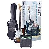 Stagg ESURF 250 LH SB Pack Guitare électrique Sunburst Gaucher avec ampli et housse
