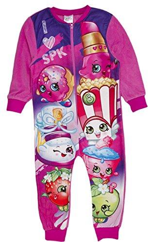 Kinder-Pyjama aus Fleece mit Aufdruck, Einteiler, 1–8Jahre Gr. 3-4 Jahre , Shopkins - I Love SPK (Disney Princess Christmas Pyjamas)