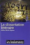 La dissertation littéraire...