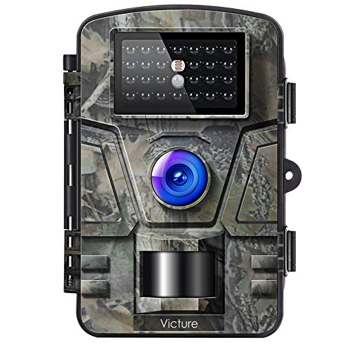 Victure Wildkamera Fotofalle mit Bewegungsmelder Nachtsicht 16MP 1080P Full HD Wildtierkamera mit Infrarot No Glow LEDs und IP66 Wasserdicht Jagdkamera für Tierbeobachtung Haussicherheitsüberwachung