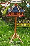 BTV Garten-Vogelhaus-Blockhaus, groß, blau mit Stände