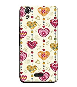 Fuson Designer Back Case Cover for Micromax Canvas Selfie Lens Q345 (Heart Shape Pattern )