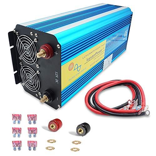 SHIJING Dual-LED-Anzeige 8000 W Wechselrichter für Reine Sinuswellen mit 12 V / 24 V bis 220 V / 230 V / 240 V Wechselstrom und 3,1 A USB-Doppel-EU-Buchse,12v