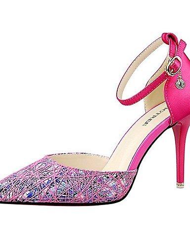 WSS 2016 Chaussures Femme-Mariage / Habillé / Soirée & Evénement-Noir / Violet / Gris / Fuchsia-Talon Aiguille-Talons / Bout Pointu-Talons- purple-us6.5-7 / eu37 / uk4.5-5 / cn37