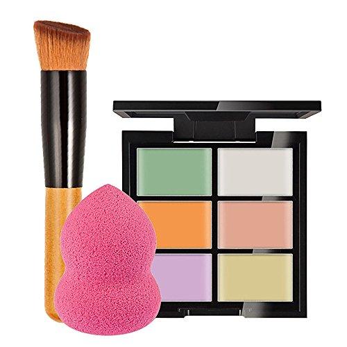 Vococal Correcteur et Pinceau de Maquillage et Éponge Puff Outils de Beauté Set A