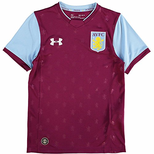 cheaper c1344 eb488 2017-2018 Aston Villa Home Football Shirt (Kids)