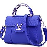Designer-Taschen V Damen Leder Clutch Bag Damen Handtaschen Damen Messenger Bags Deep Blue 22x11x18