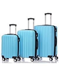 BEIBYE LG2050 doble ruedas carcasa rígida maleta estuche de viaje, Azzurro cielo, Set (XL/L/M)