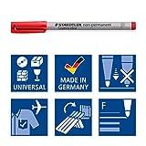 Staedtler 316 Lumocolour Assorted Colour Fine Non-permanent Universal Pen Ref 316 WP4 - Pack 4