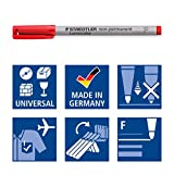 Staedtler 316 WP4 Lumocolor Universal Non Permanent Fine Pens - Assorted Colours