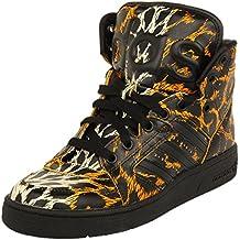 finest selection ac888 f4ebc Adidas JS Instinct HI Leopard Zapatillas Moda Sneakers Negro Amarillo  Unisex Jeremy Scott