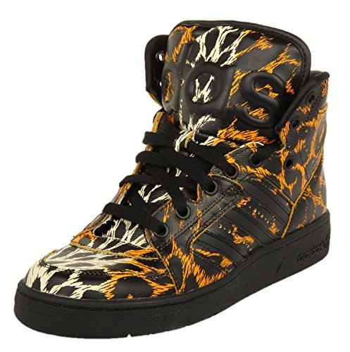adidas JS Instinct Hi Leopard, Sneakers Stringate Uomo Nero