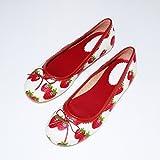 Kamaca Schöne Leder - Schuhe Erdbeere Gute Passform, Elegantes und Festliches Aussehen, universell einsetzbar - für Mädchen und Damen (Leder - Ballerina - Schuhe Flach, 40)