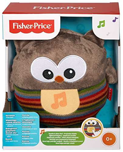 Image of Fisher-Price Soothe and Glow Owl - Brown
