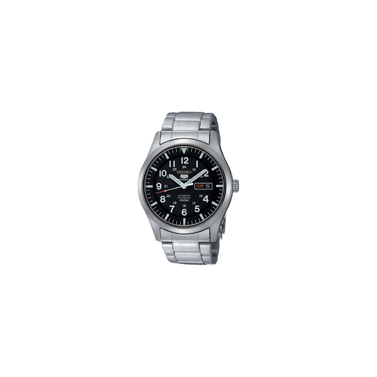 51Dghk5tJOL. SS1200  - Seiko Reloj Analógico Automático para Hombre con Correa de Acero Inoxidable - SNZG13K1