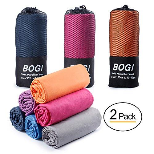 BOGI Mikrofaser Handtücher Sporthandtuch - 50cmx100cm - klein,leicht,weich,ultra Saugfähig,schnelltrocknend,Antibakteriell - Perfekte für Travel Strand Yoga Fitness Bad Camping(M:Rosa) (Mikrofaser-handtuch Saugfähiges Ultra)