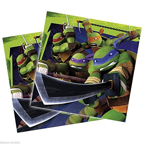 Amscan-552467-20Ninja TurtlesServietten -33x 33cm