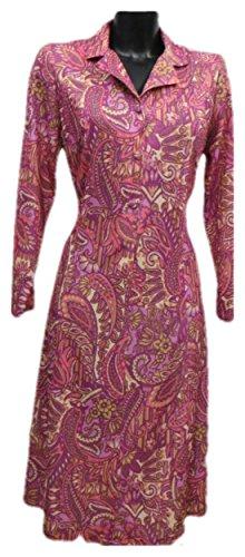 Generic - Robe - Manches Longues - Femme Fuschia Paisley Print