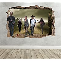 The Walking Dead Breakout Smashed 3D Wall Sticker Boy Girl Bedroom Decal Poster - Extra Large Landscape 100cm (w) X 70cm (h) preiswert