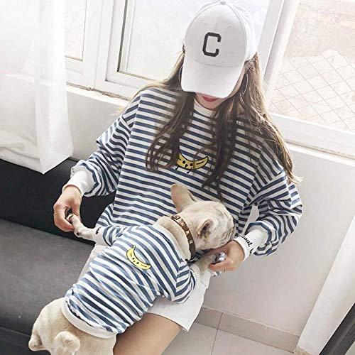 Eltern-Haustiere-Strip-Kleidung Haustiere Besitzer Und Haustiere Haushaltskleidung Outfits Kostüme Für Kleine Hunde Katze Und Mama -Haustier Besitzer Und Haustiere Familien Outfits Für Hunde Und Katzen Shirt,L-and Parent (Kostüm Für Haustiere Und Besitzer)
