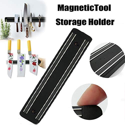 Magnetische Messerhalter Edelstahl Messerhalter Wandhalter Chef Rack Strip Utensil Home Kitchen Tool (Schwarz) Schwarz Utensil