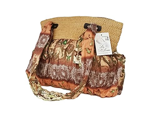 """La Loria bunte Handtasche """"Great HIPPIE"""" stylische Schultertasche, Beuteltasche für Damen oder Mädchen - Boho Style - Bohemian Style Braun Beige"""