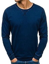 BOLF Herren Pullover Sweatshirts Langarmshirt Rundhals MIX Basic