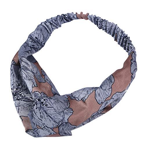 HEVÜY Vintage Stirnband Haarband Headband Kopf Warp aus Stoff oder Satin mit Knot koreanisches Haarband für Damen