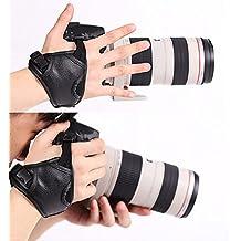 WITHLIN profesional rápido tiro PU cámara agarre banda correa de mano correa de cuero para cámara SLR DSLR(Canon Nikon Sony Pentax Olympus,etc) (agarre de muñeca)