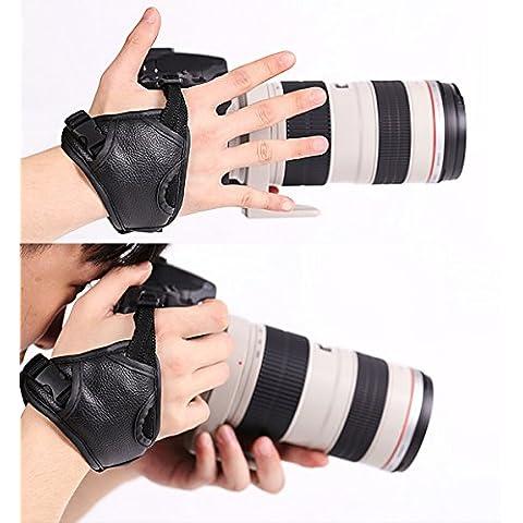 WITHLIN profesional rápido tiro PU cámara agarre banda correa de mano correa de cuero para cámara SLR DSLR(Canon Nikon Sony Pentax Olympus,etc) (agarre de