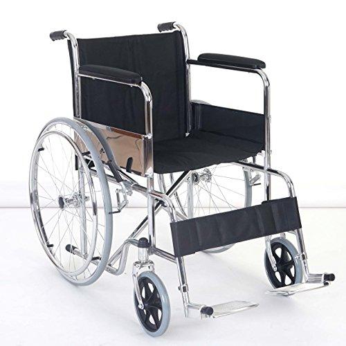 Sedia a rotelle pieghevole portatile Dijon T707 acciaio 103x65x83cm
