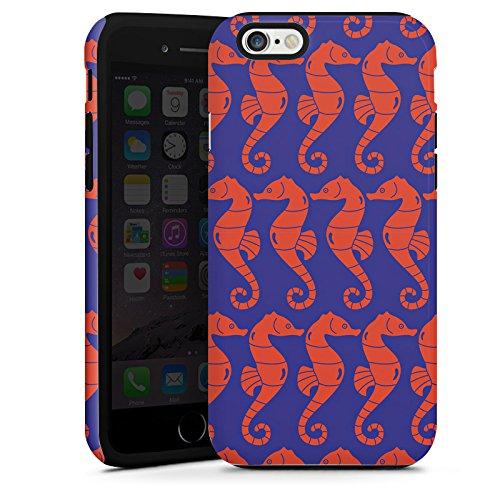 Apple iPhone 5s Housse Étui Protection Coque Hippocampe Été Vacances Cas Tough terne