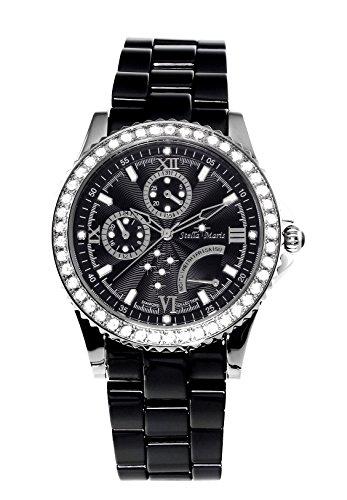 Stella Maris STM15N2- Reloj Pulsera analógico de Cuarzo para Mujer (con Diamantes), Correa de cerámica Blanco