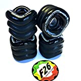 Shark Wheels California Roll Cruiser Rollen 60mm/78A (4er Set) + Fantic26 Sticker (schwarz)