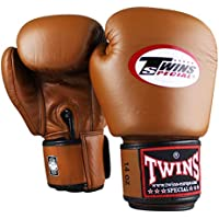 Twins Special Boxhandschuhe Retro Braun - Boxhandschuhe Kickboxen Sparring Muay Thai Leder - Must Have für Thaiboxer - Handgefertigt in Thailand von Twins, die Premium Muay Thai Marke