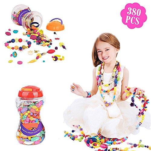 Pop Perlen, Lauva Bildung Lernen Spielzeug Schmuck Making Kits Geschenkset für Kleinkinder Kids Boys Girls, BPA Free Halskette Armband Ringe DIY Art Crafts Weihnachten Geburtstag Geschenke