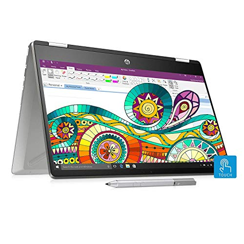 HP Pavilion x360 Core i5 10th Gen 14-inch FHD Touchscreen 2-in-1 Alexa Enabled Laptop (8GB/256GB SSD+1TB HDD/Windows 10/MS Office/Inking Pen/FPR/Natural Silver/1.59 kg), 14-dh1011TU