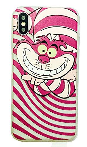 Phone Kandy® Alice in Wonderland Cheshire Cat White Rabbit Hülle Weiches Mattiert TPU Transparentes Silikon handyhülle Und Schirmschutz (iPhone XR, Typ #5) (5 Iphone Disney-silikon-fall)