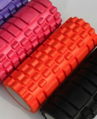 Foam Yoga roller the grid beast roller for massage workout and fitness Pilates All Colours (Orange)